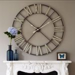 : Large wall clock with extra large vintage wall clock with big metal wall clock with where to buy large wall clocks