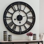 : Large wall clock with large oval wall clock with home decor clocks with oversized metal clock