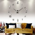 : Large wall clock with large vintage wall clocks with decorative clocks with cool wall clocks