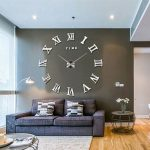 : Large wall clock with large wall clocks uk with extra large silver wall clock with square kitchen wall clocks with antique wall clocks