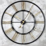 : Large wall clock with oversized wood wall clock with extra large wall clocks sale with iron wall clock