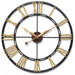 : Large wall clock with rustic big wall clocks with cool big clocks with country wall clocks