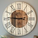 : Large wall clock with wooden wall clock with square wall clock with contemporary wall clocks