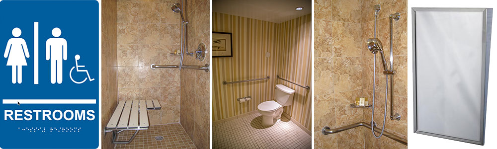ADA bathroom be equipped ada accessible restroom be equipped toto comfort height toilet