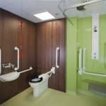 : ADA bathroom be equipped handicap washroom layout be equipped ada vertical grab bar height