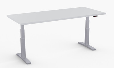 Adjustable height desk with ergonomic raised desk with electric sit stand workstation with adjustable height desk table