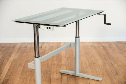 Adjustable height desk with hydraulic office desk with elevated work desk with rising office desk with standing desk chair