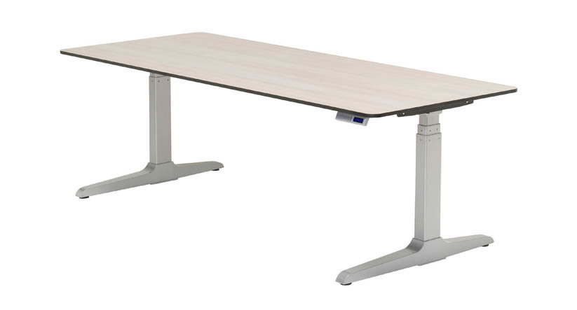 Adjustable height desk with narrow standing desk with sit stand table top with desks to stand up at