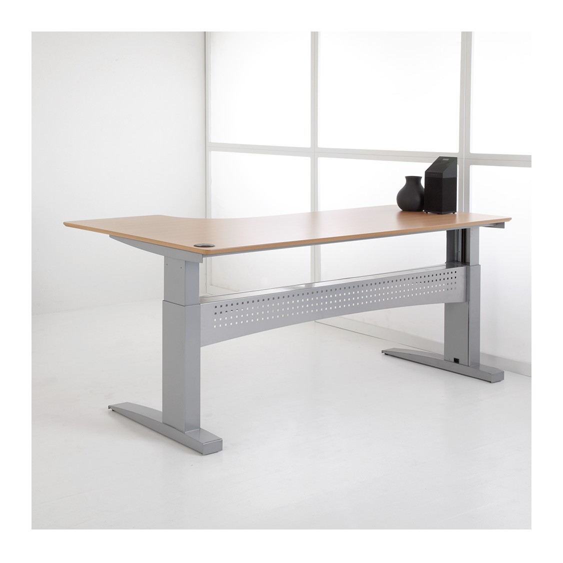 Adjule Height Desk With Vertical