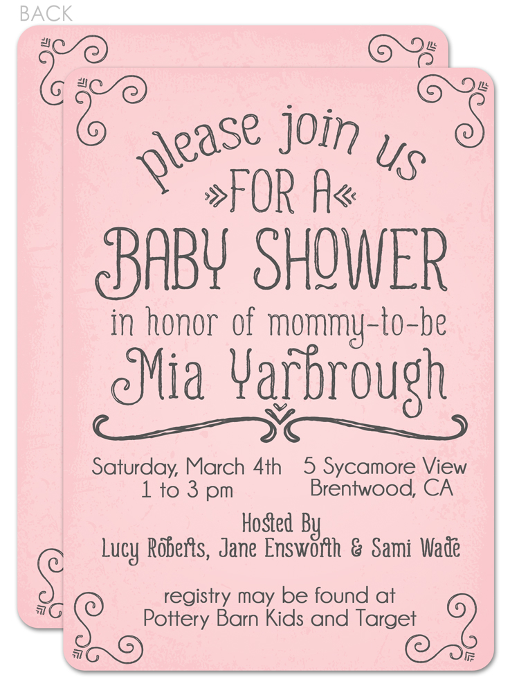 what do you write on baby shower invitations