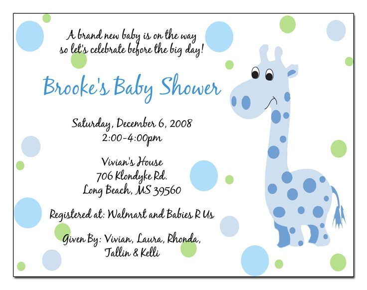 Baby Shower Invitation Wording Guideline To Help You Write Yours Inspiration Home Magazine
