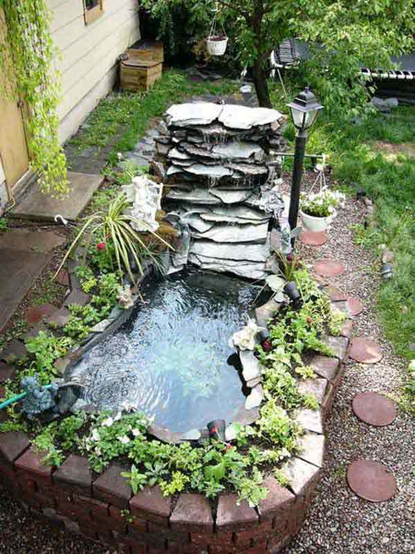 Backyard ponds be equipped koi ponds and gardens be equipped home koi pond be equipped water garden landscaping