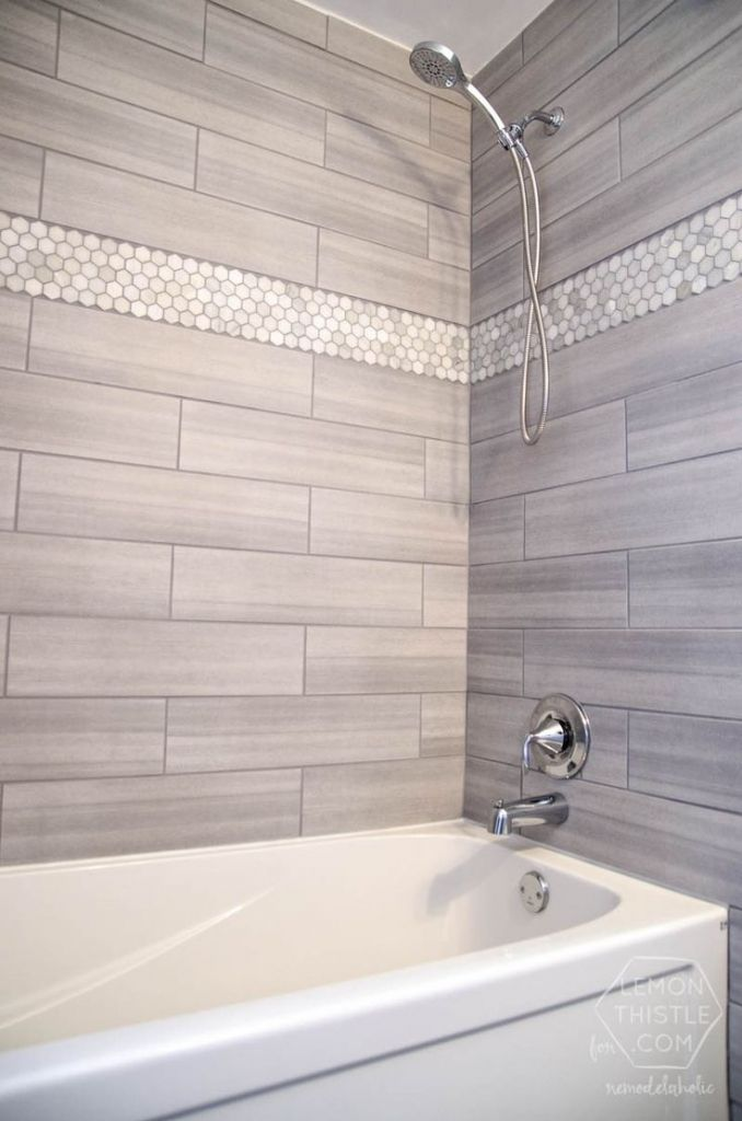 Marble Tile Walk In Shower For Good Bathroom Remodel Ideas Be Equipped With Bathtub Faucet Bronze And Window Treatment Also Paint The