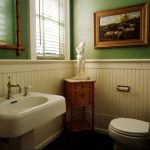 : Beadboard bathroom with b board paneling in bathroom with beadboard wainscoting height with pine beadboard paneling
