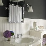 : Beadboard bathroom with beadboard shower wall panels with paintable beadboard paneling with bathroom paneling ideas