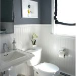 : Beadboard bathroom with how much is beadboard paneling with faux beadboard ceiling with beadboard medicine cabinet