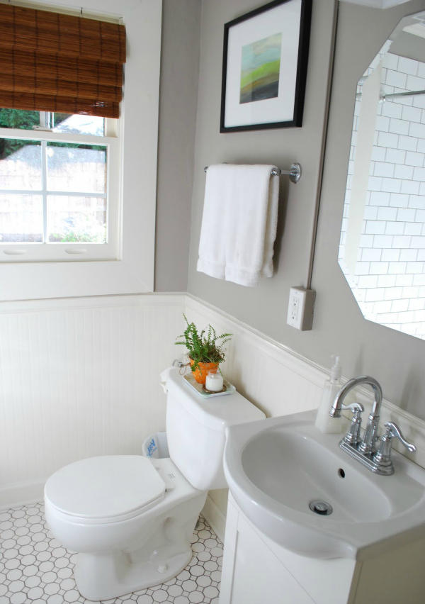 Beadboard bathroom with wainscoting 4x8 sheets with beadboard porch ceiling with wood plank wainscoting