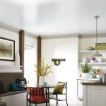 : Beadboard ceiling with basement drop ceiling with stained beadboard porch ceiling with exterior grade beadboard