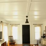 : Beadboard ceiling with beadboard walls living room with beads that hang from the ceiling with beadboard colors
