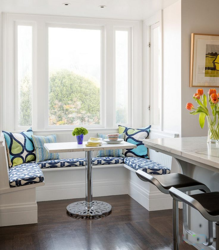 Breakfast Nook Table With Corner Bench Dinette With Contemporary