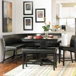 : Breakfast nook table with corner booth dining set with cheap breakfast nook with booth kitchen table