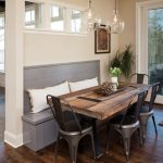 : Breakfast nook table with wooden table corner nook and bench set with tables for kitchen booths with breakfast booth in kitchen