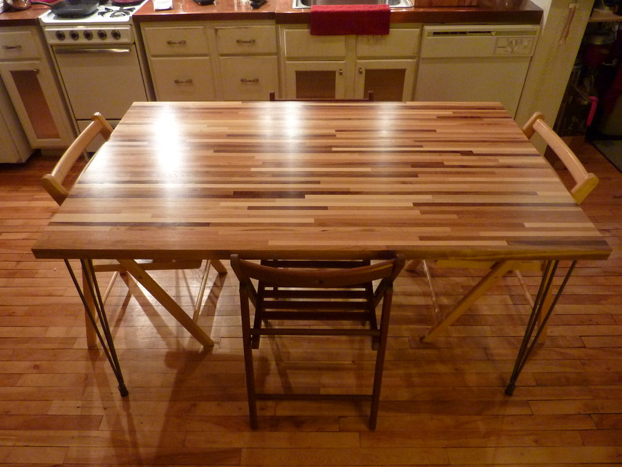 Butcher Block Table with butcher block dining room table with maple butcher block table