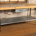 : Butcher Block Table with butcher block island with butcher block countertop