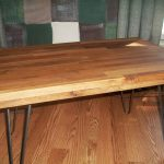 : Butcher Block Table with butcher block stand with cutting board countertop