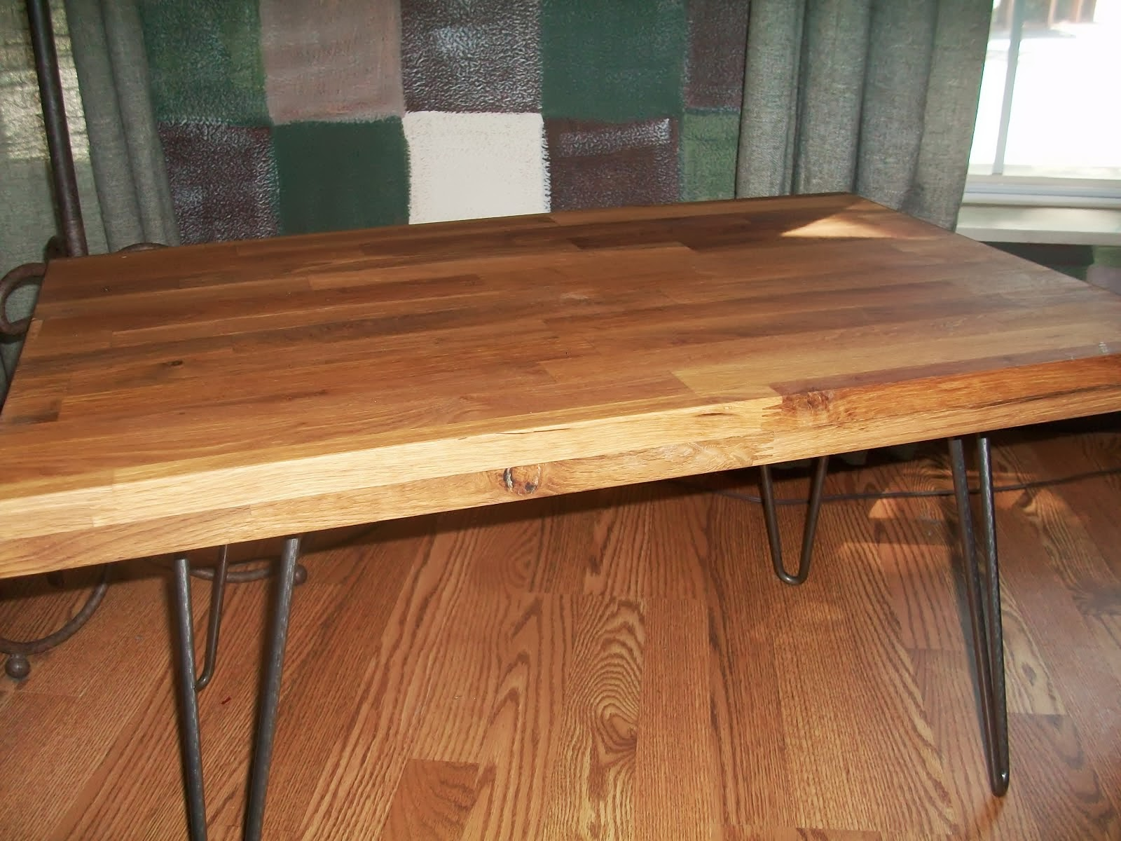 Butcher Block Table with butcher block stand with cutting board countertop