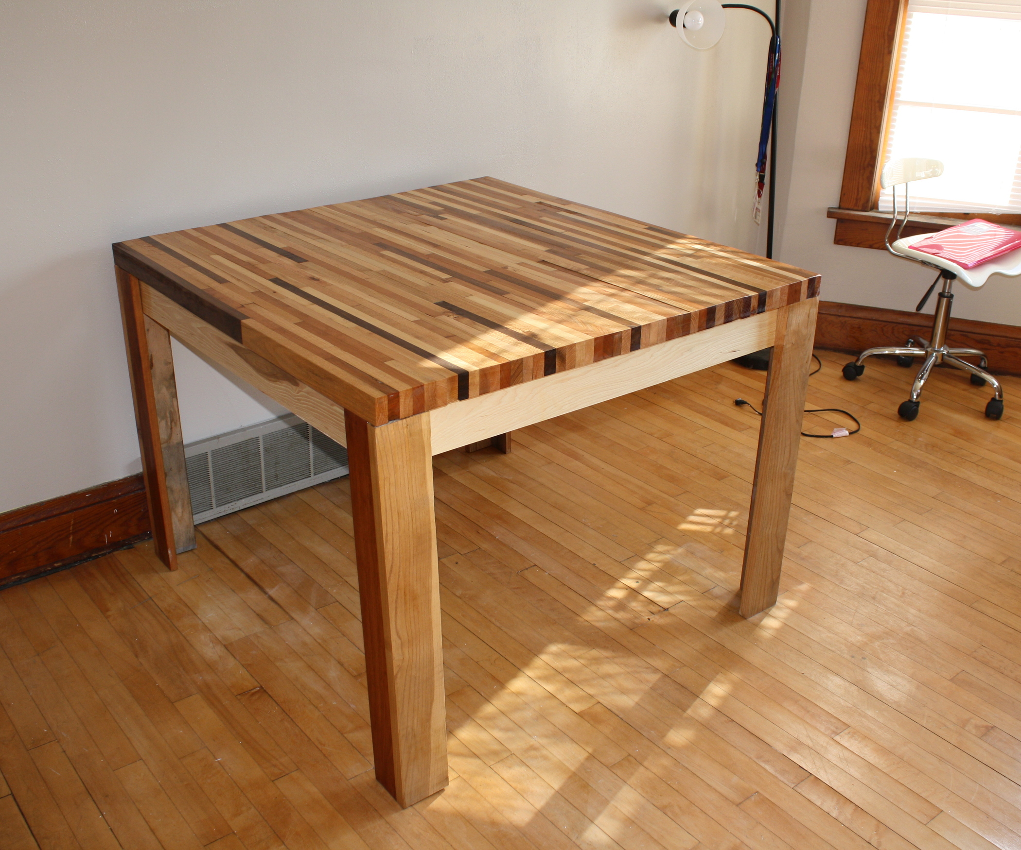 Butcher Block Table with butchers chopping table with custom butcher block table