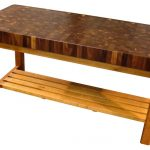 : Butcher Block Table with chopping block wood with long butcher block table
