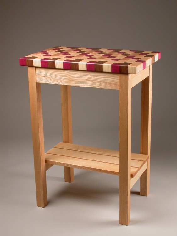 Butcher Block Table with walnut butcher block with kitchen block table