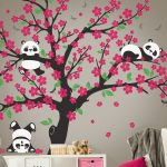 : Cherry blossom wall decal with cherry blossom nursery decor with ballerina wall stickers