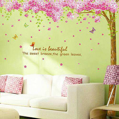 Cherry blossom wall decal with cherry blossom stickers with cherry blossom wall decor