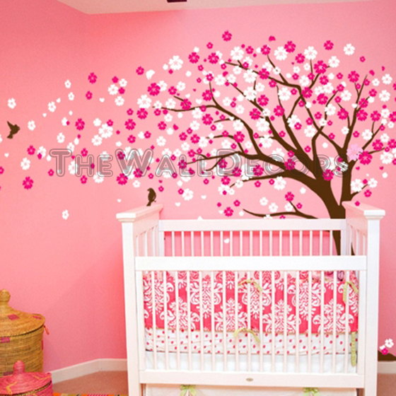 Cherry blossom wall decal with cherry blossom tree nursery with japanese tree wall sticker