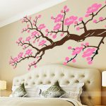: Cherry blossom wall decal with cherry blossom wall appliques with farm wall decals with wall stickers for bedrooms