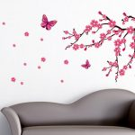 : Cherry blossom wall decal with floral wall decals with blossom tree wall sticker