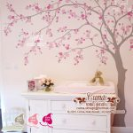: Cherry blossom wall decal with floral wall stickers with blossom wall stickers