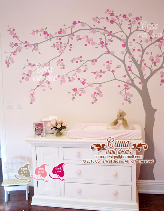 Cherry blossom wall decal with floral wall stickers with blossom wall stickers