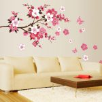 : Cherry blossom wall decal with flower wall stickers with cherry blossom wall stickers