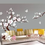 : Cherry blossom wall decal with large wall decals with wall decals quotes