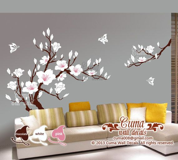 Cherry blossom wall decal with large wall decals with wall decals quotes