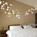 : Cherry blossom wall decal with sakura blossom wall sticker with bedroom wall stickers for adults