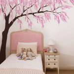 : Cherry blossom wall decal with tree decal wall art with branch wall stickers with wall decals stickers vinyl
