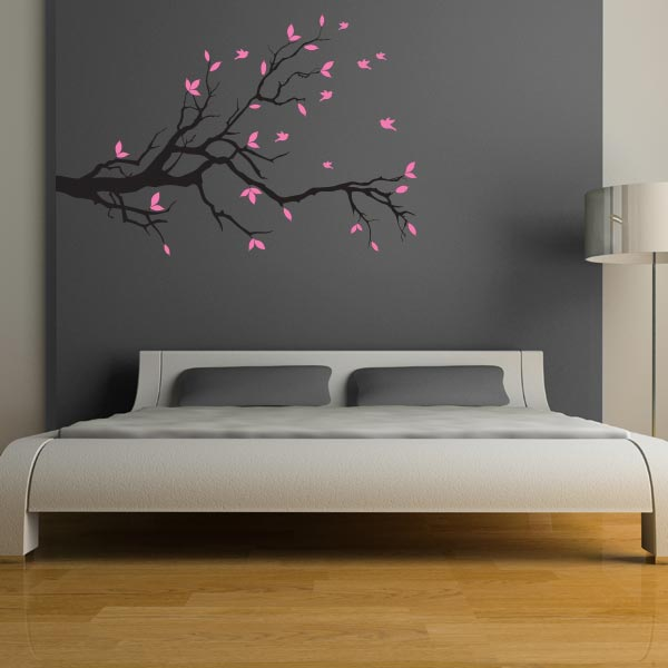 Cherry blossom wall decal with tree wall stickers with wall murals with wall stickers for bedrooms