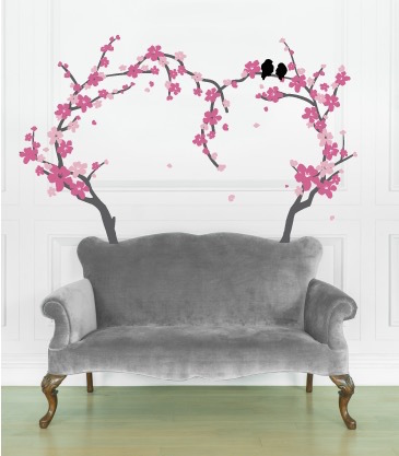 Cherry blossom wall decal with vinyl wall decals quotes with cherry blossom window decal
