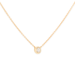 : Diamond necklace with gold and diamond necklace with one diamond necklace