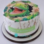 : Dinosaur cake be equipped lightning mcqueen birthday cake be equipped easy dinosaur birthday cake