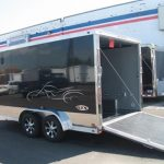: Enclosed motorcycle trailer with black motorcycle trailer with towable motorcycle trailer